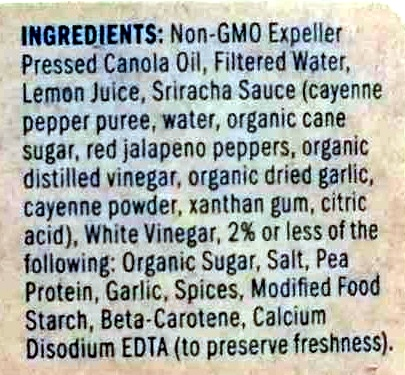 Sriracha - Ingredients - en