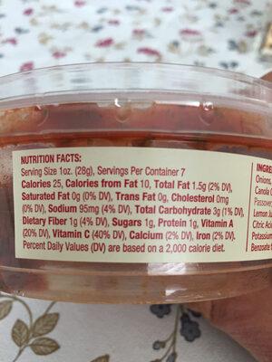 Turkish Dip - Nutrition facts - en