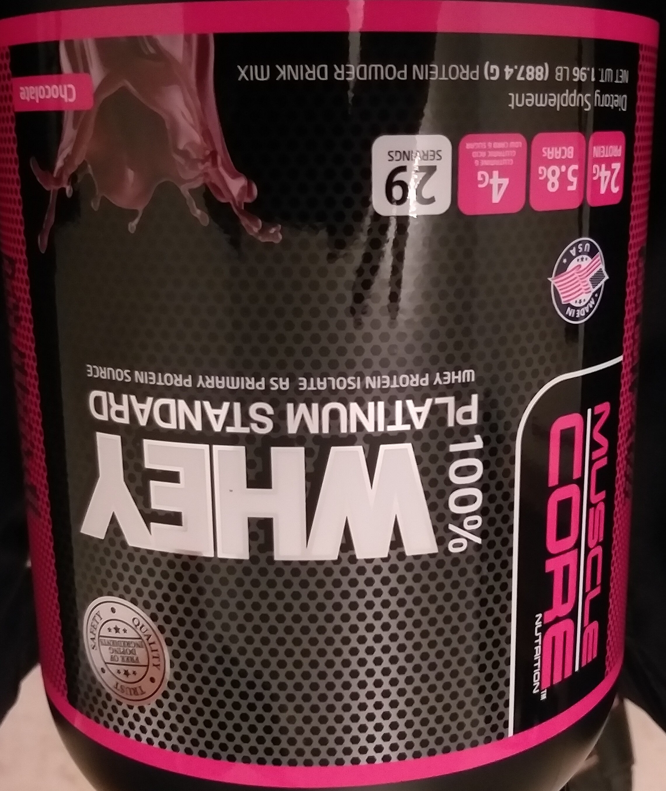 100% Whey platinum standard - Product