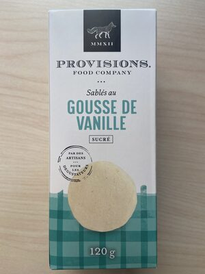Vanilla Bean Shortbreads | Sablés au Gousse de Vanille - Produit - fr