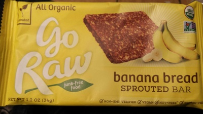 Organic banana flaxseed sprouted bar - Product