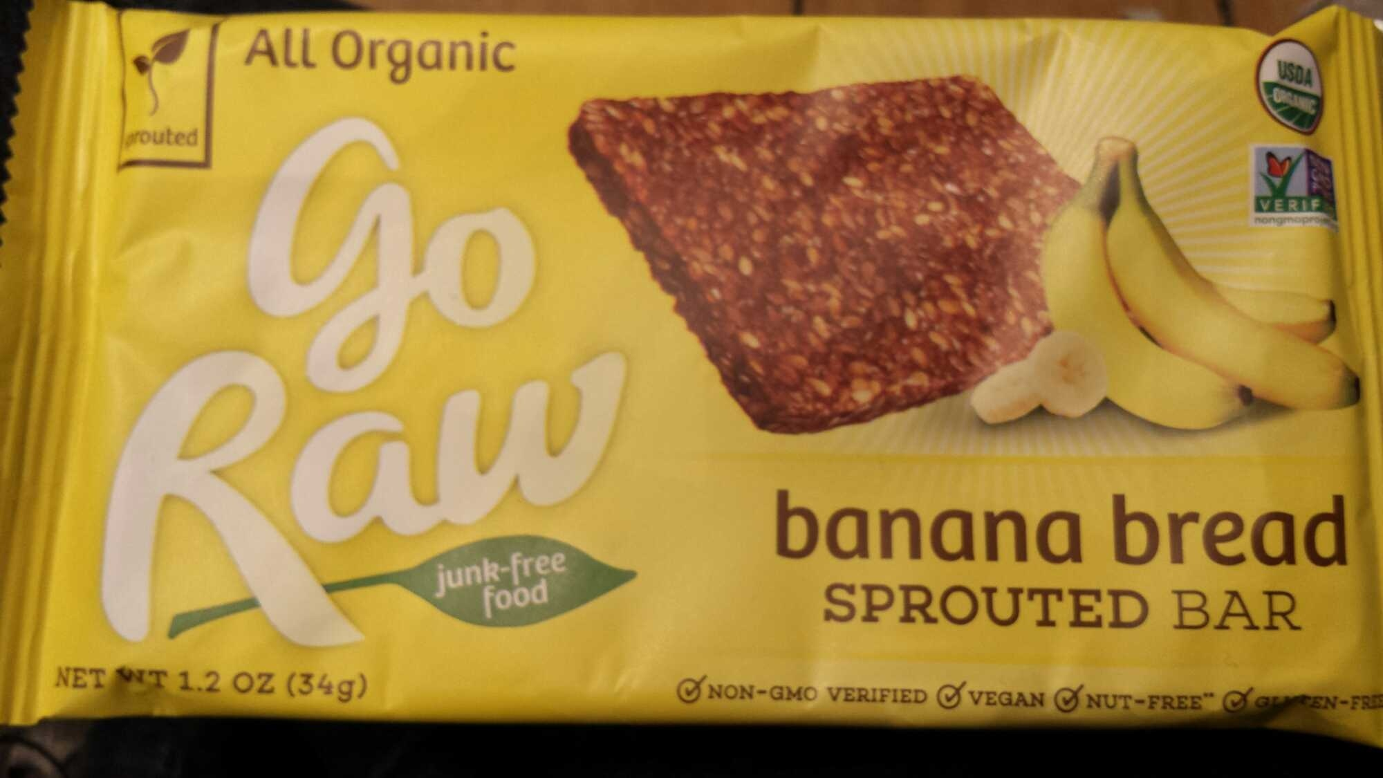Organic banana flaxseed sprouted bar - Product - en