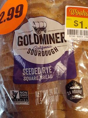 Goldminer Sourdough Seeded Rye Square Bread - Product - en