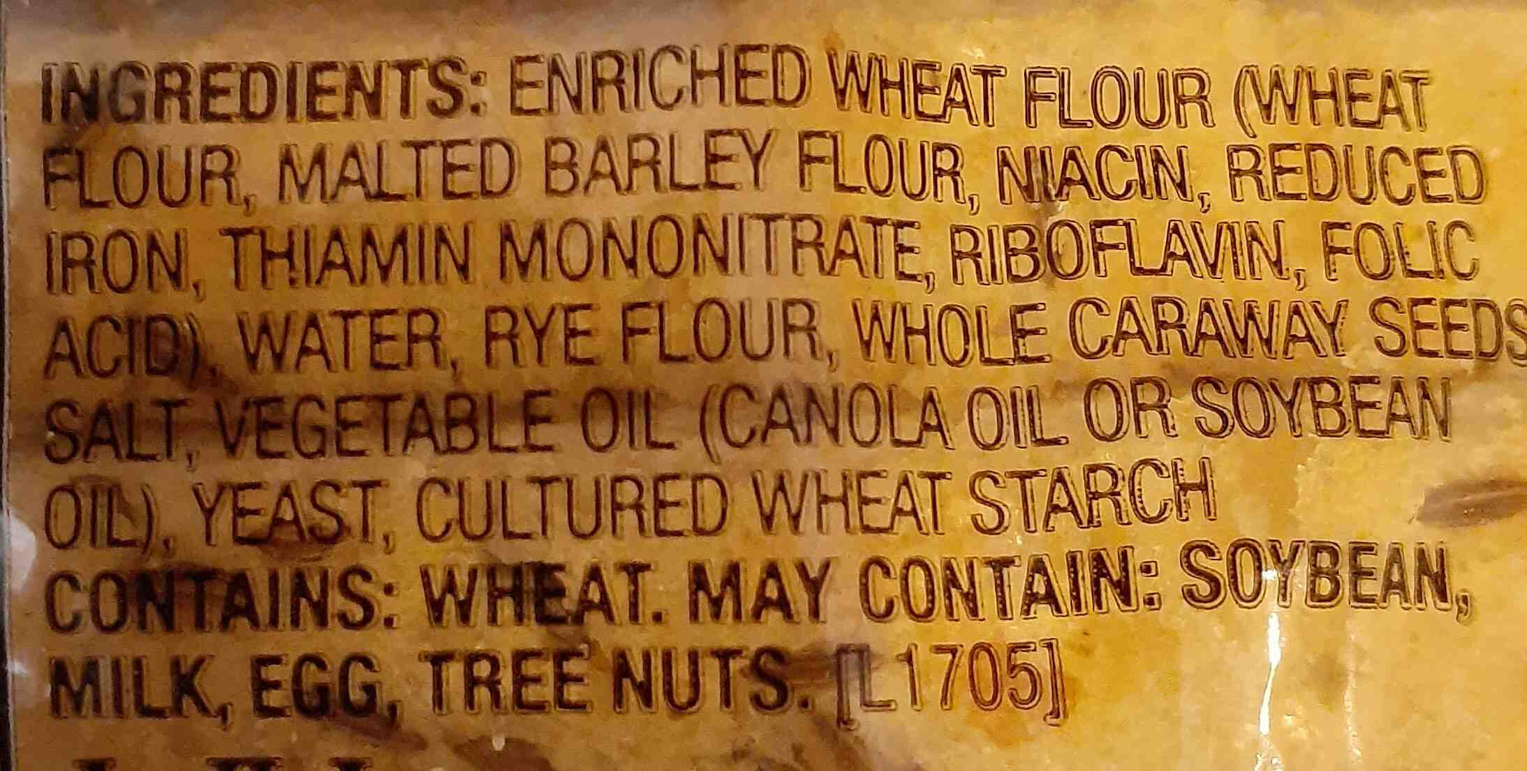 Goldminer Sourdough Seeded Rye Square Bread - Ingredients - en