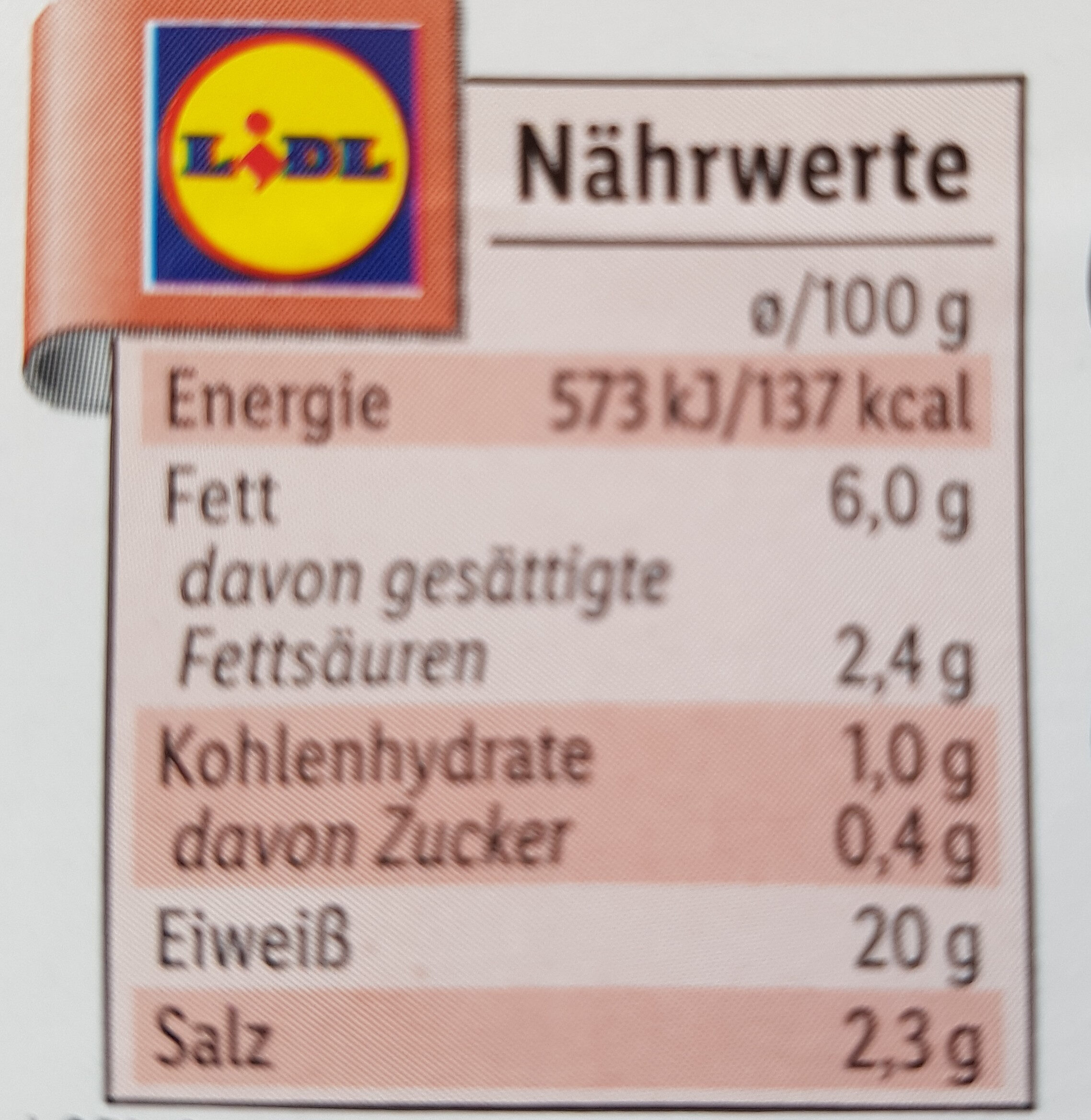 Delikatess Krusten-Schinkenbraten - Nutrition facts - de