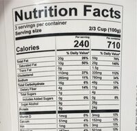 peanut butter cup - Nutrition facts - en