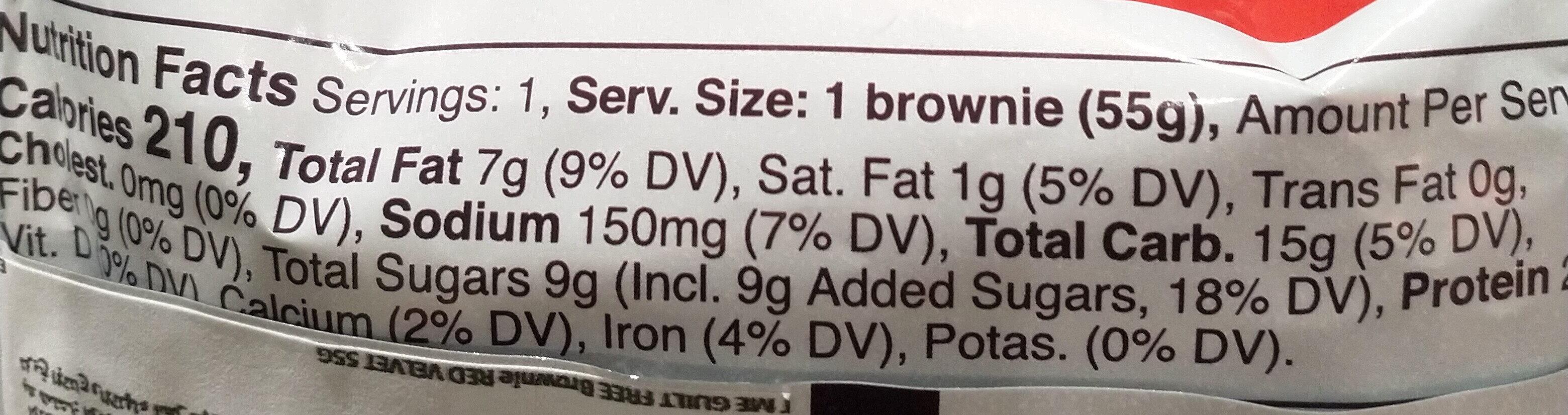 brownie - Nutrition facts - en
