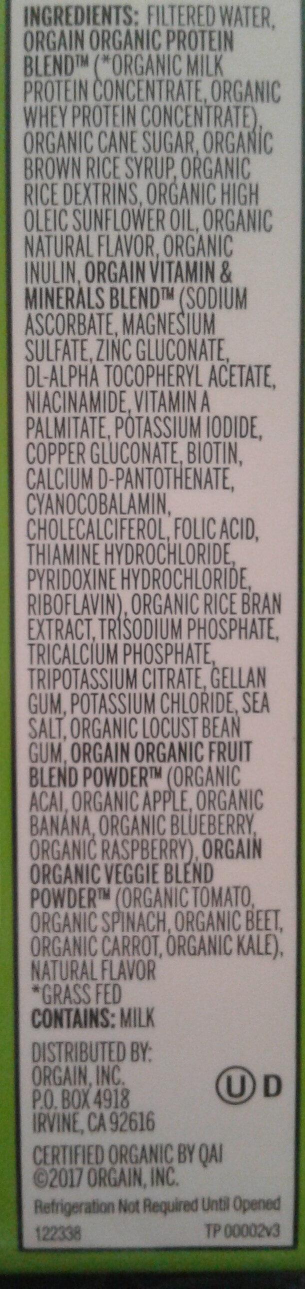 Sweet Vanilla Bean All-In-One Nutritional Shake - Ingredients