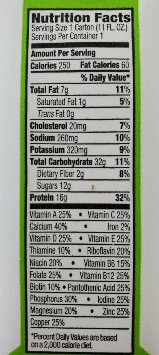 Sweet Vanilla Bean All-In-One Nutritional Shake - Nutrition facts - en