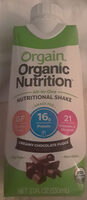 Organic Nutrition All-In-One Nutritional Shake Creamy Chocolate Fudge - Product