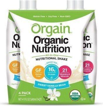 Organic nutritional shake sweet vanilla bean shakes - Product - en