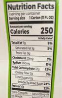 Organic nutritional shake sweet vanilla bean shakes - Nutrition facts - en