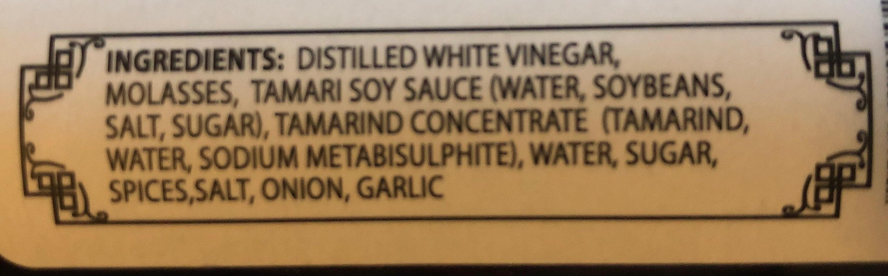 Mr. Callahan's Worcestershire - Ingredients