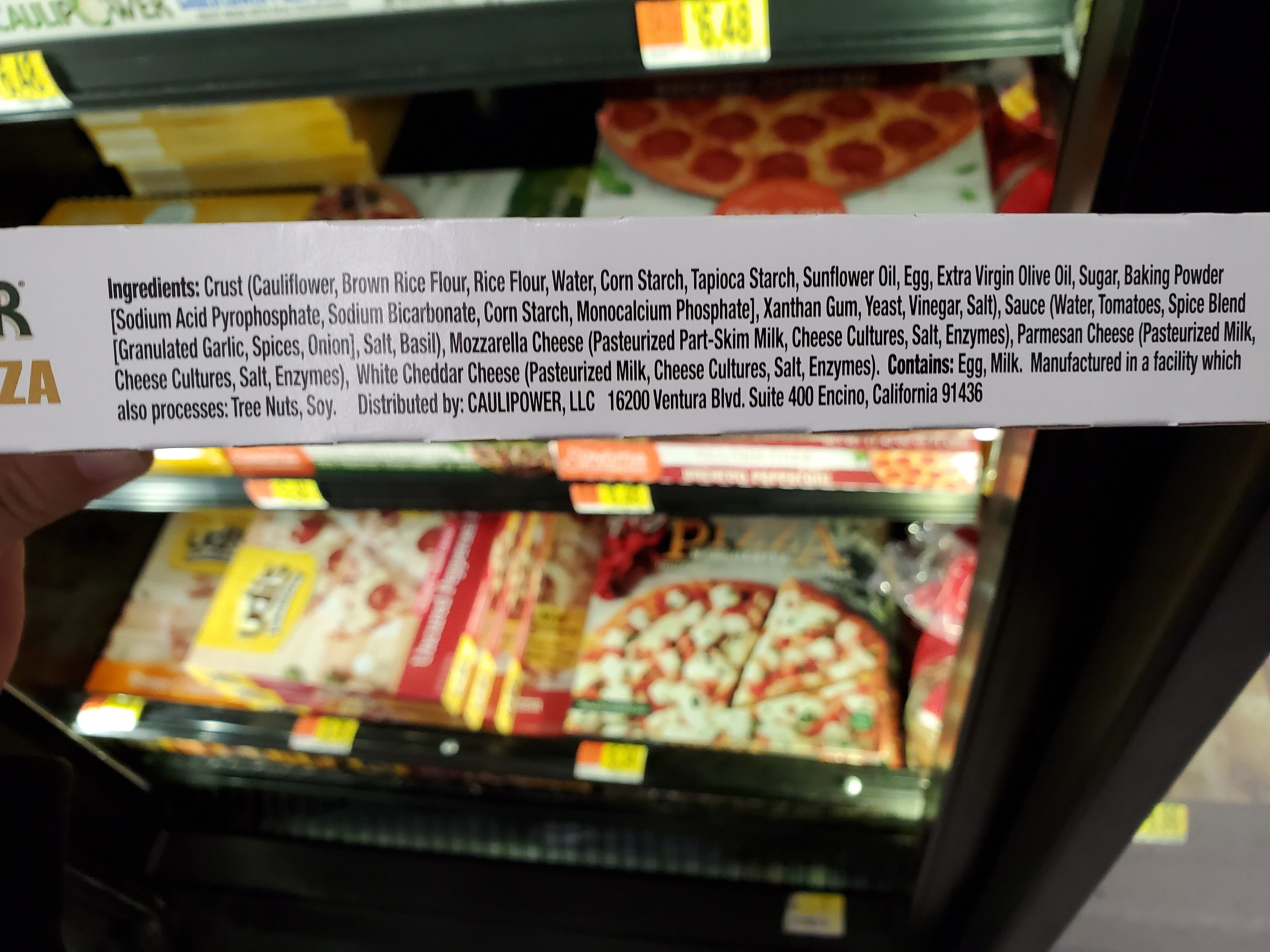 caulipower 3 cheese pizza - Ingredients - en