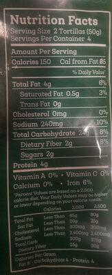 Chickpea Flour Siete - Nutrition facts