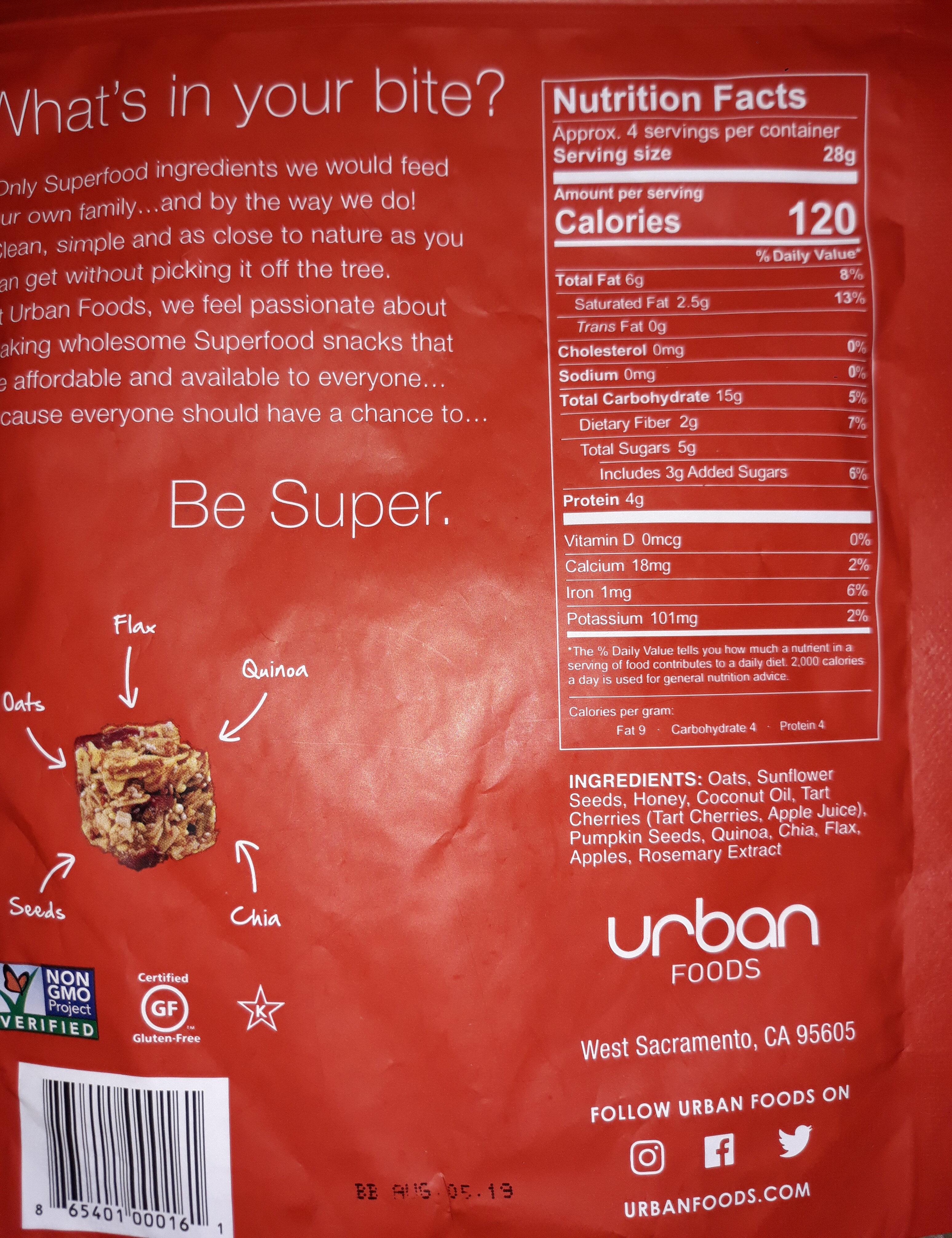 Superfood bites - Nutrition facts - en