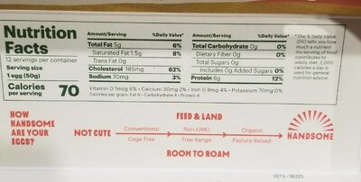 Handsome Small Farms - Nutrition facts - en