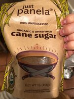 100% Unprocessed Artisanal Cane Sugar - Nutrition facts