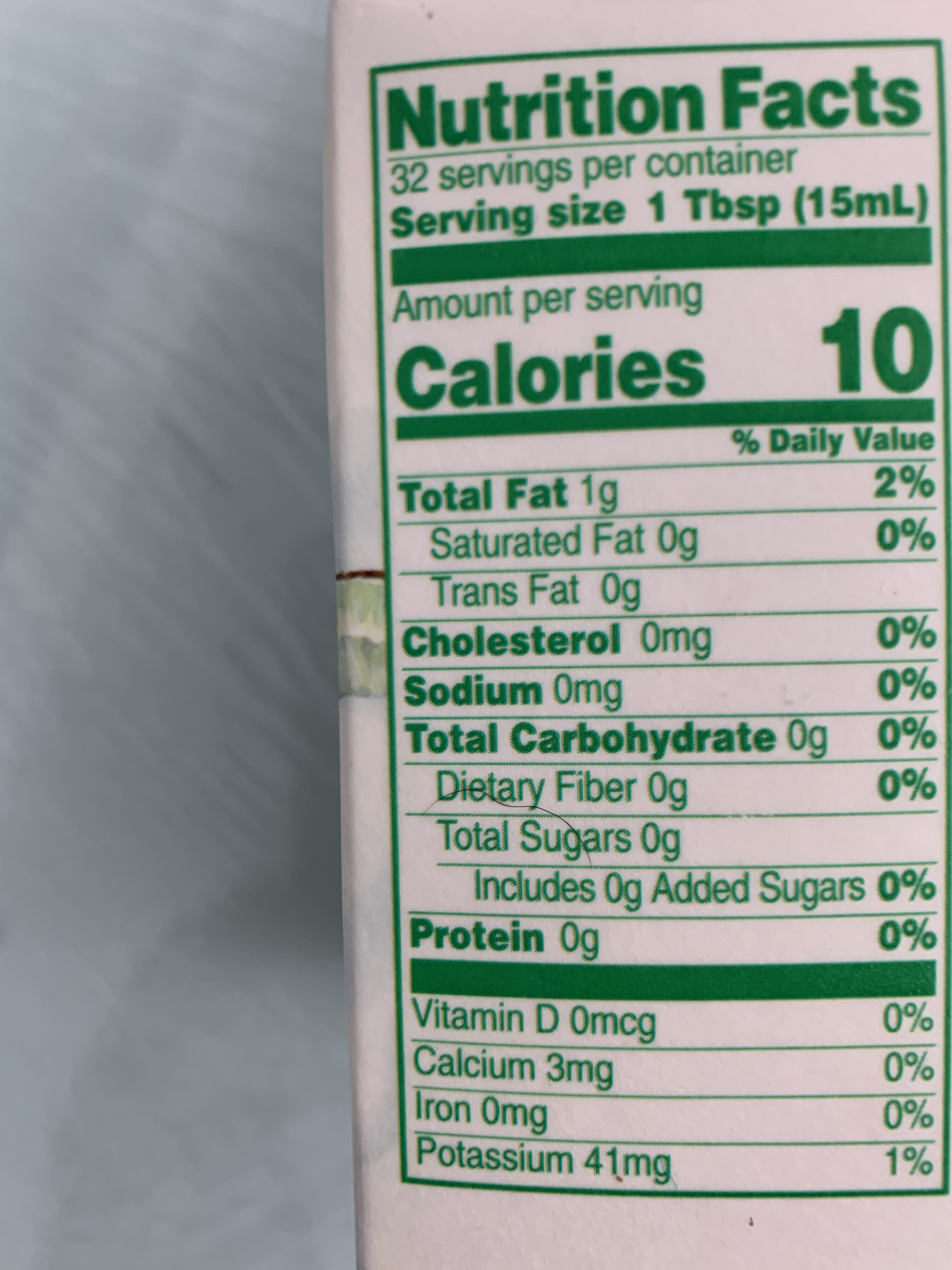 Nut Pods - Nutrition facts