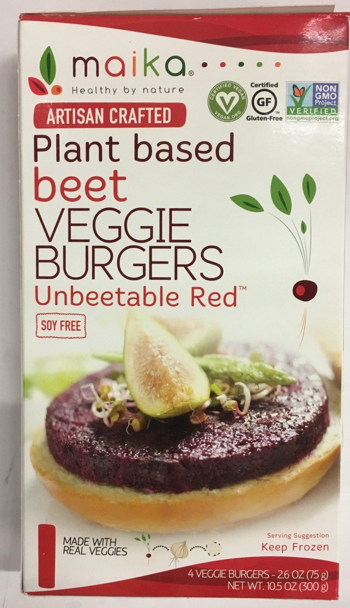 Maika, Artisan Crafted Veggie Burgers, Beet - Producto - es