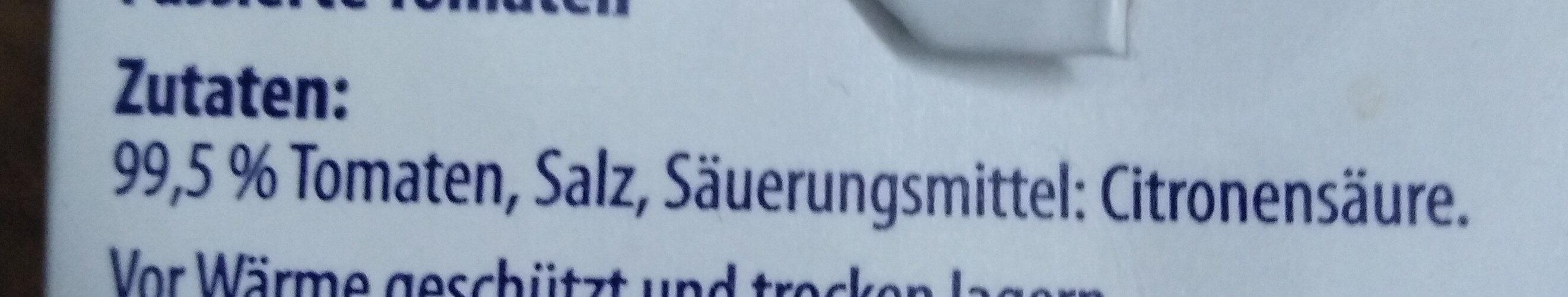 Tomaten passiert - Ingredients