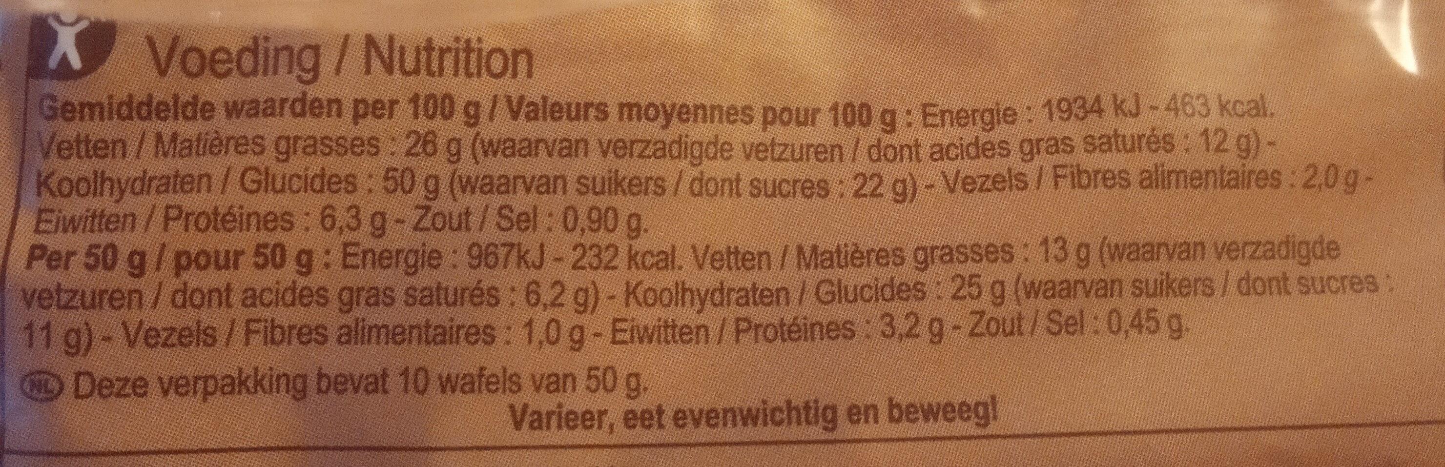 Luikse Wafels - Nährwertangaben - nl
