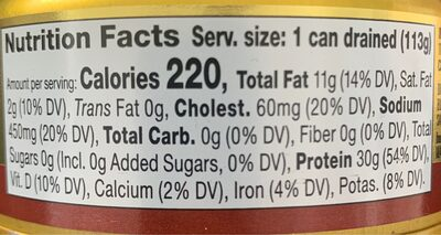 Wild-Caught Gourmet Tuna - Nutrition facts - en