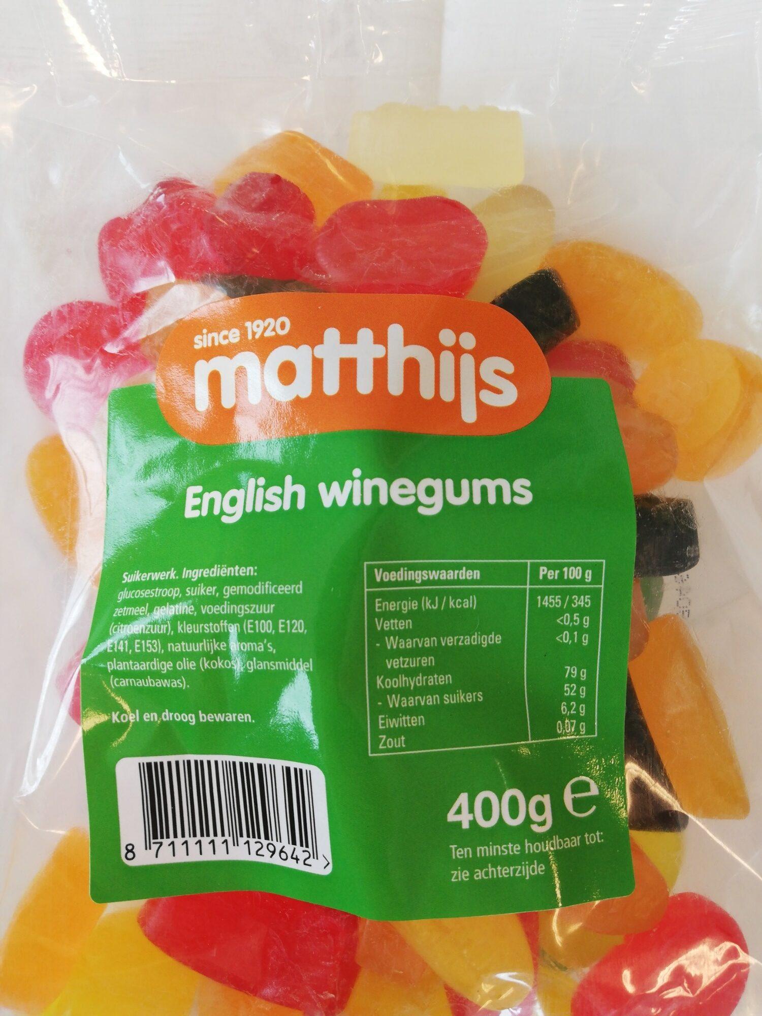 English winegums - Product - en