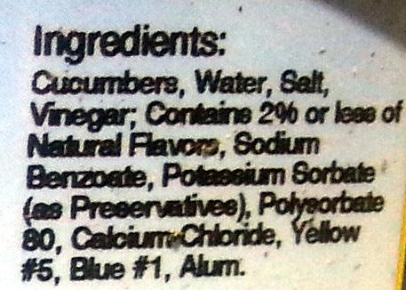 Kosher Dill Chips - Ingredients - en