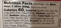 Smoked Gouda Style Slices - Nutrition facts - en
