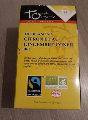 Thé blanc au citron et au gingembre confit. BIO - Produit - fr