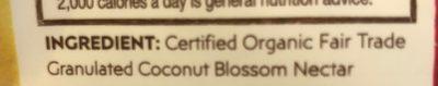 Brown Coconut sugar - Ingrediënten - en