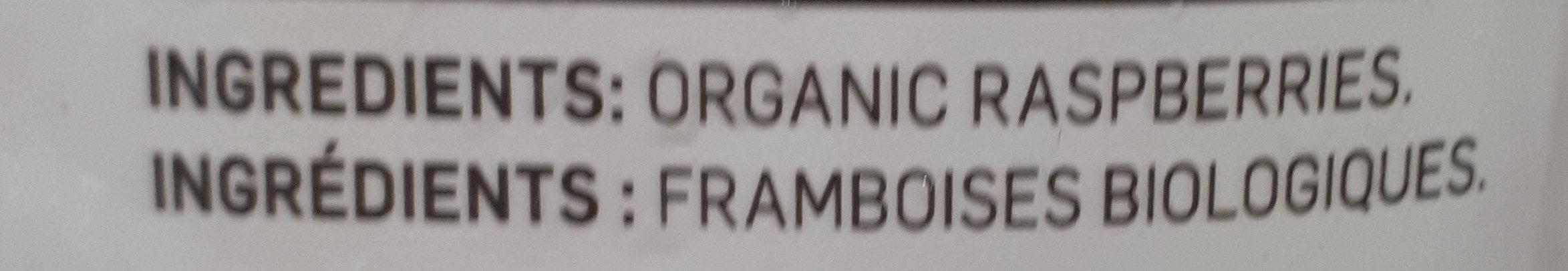 Framboises biologiques - Ingrédients - fr