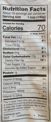 Organic very berry burst - Nutrition facts
