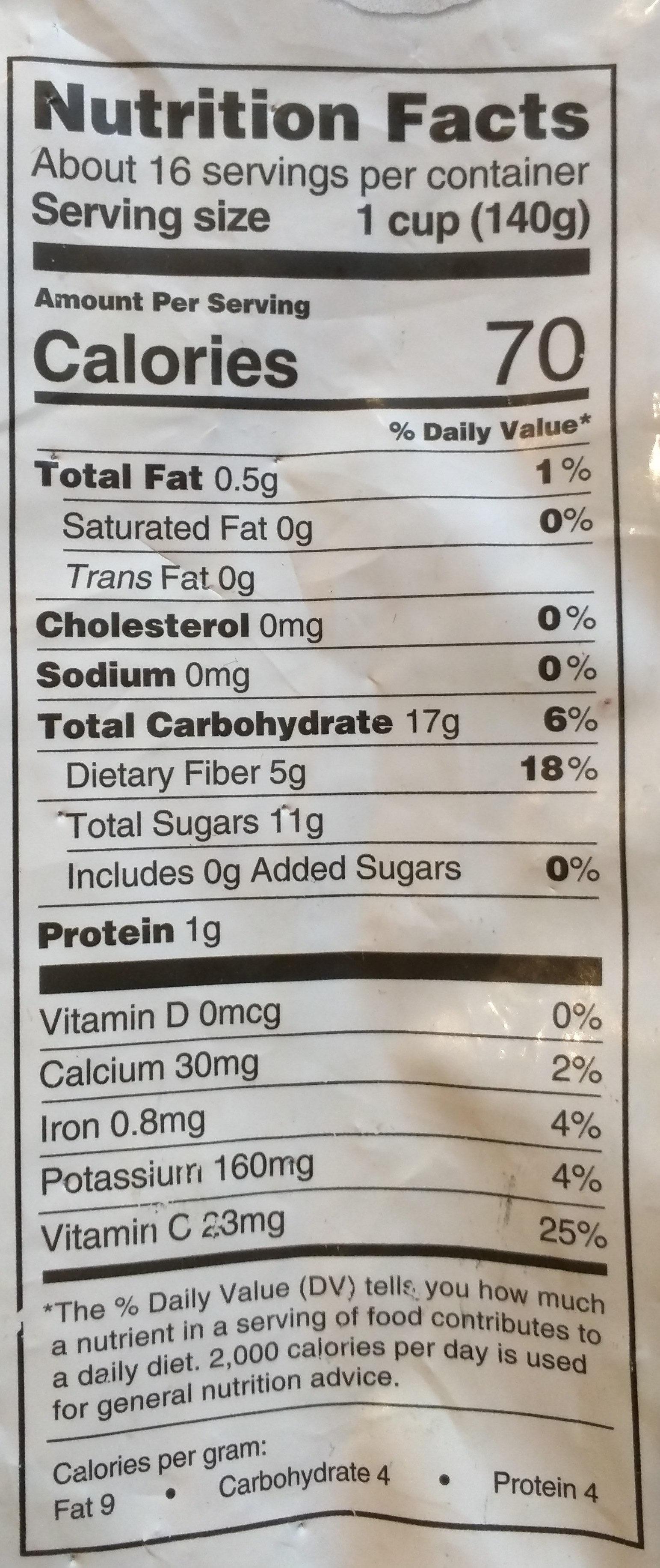 Organic very berry burst - Nutrition facts - en