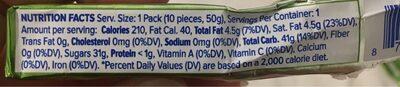 Hi Chew - Nutrition facts - en