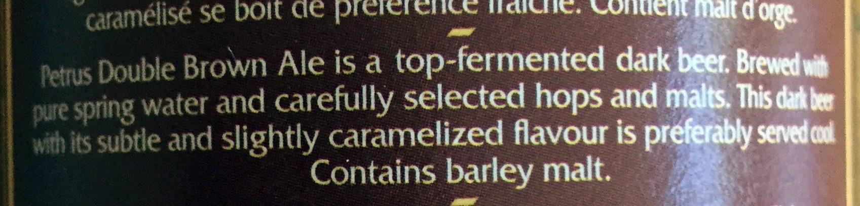 Dubbel bruin - Ingredients - en