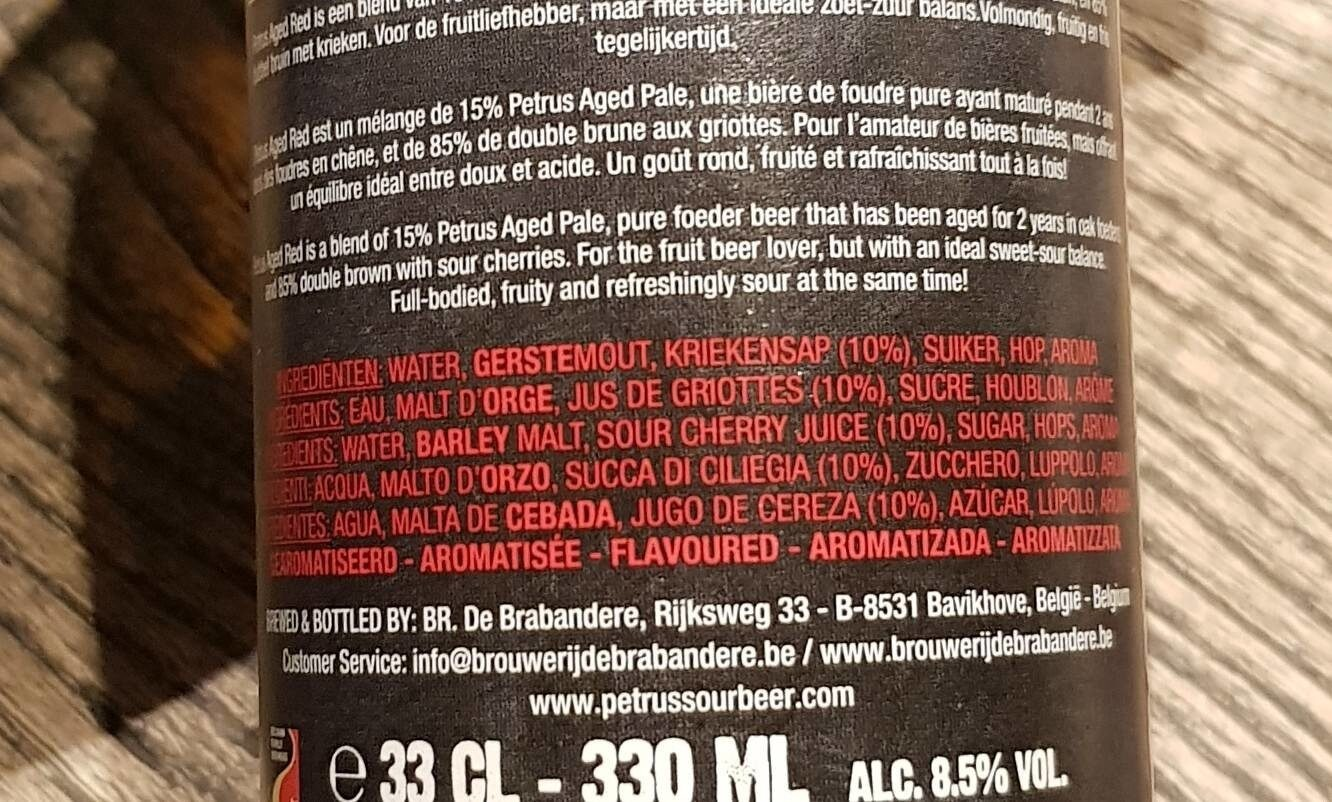 Petrus Aged Red Red 33 CL Fles - Ingredients