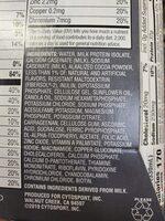 muscle milk nondairy - Ingredients