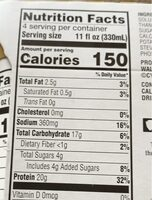 Evolve ideal vanilla protein shake - Valori nutrizionali - en