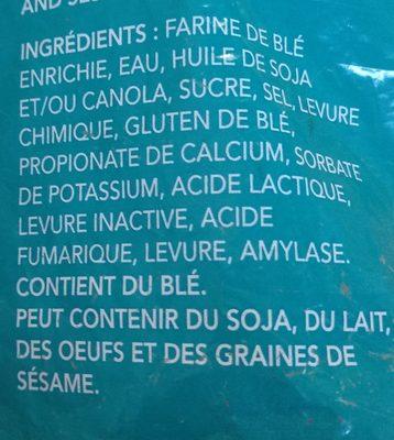 Pain Naan - Ingredients - fr
