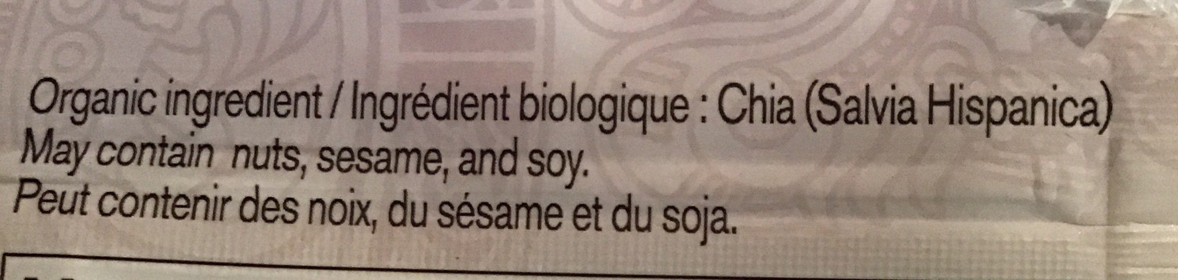 Chia Samen - Ingrédients - fr