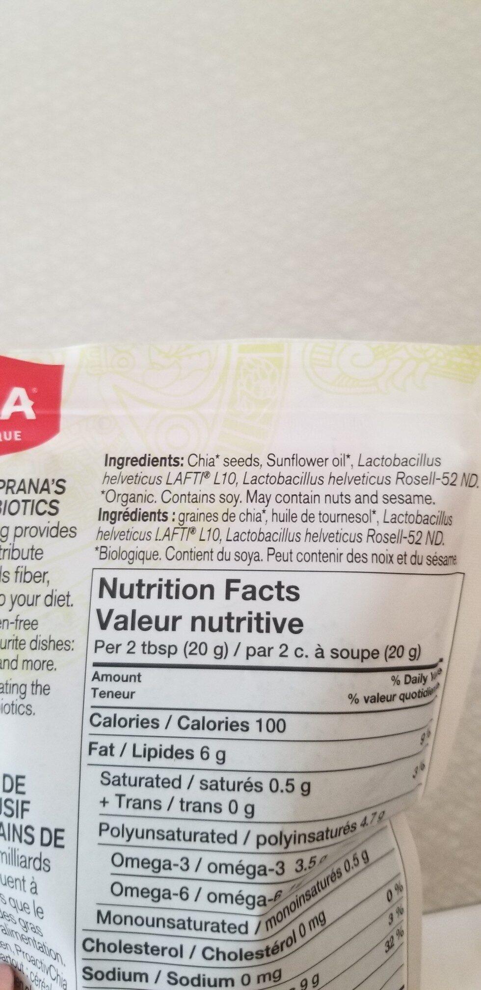 ProactivChia - Ingredients - en