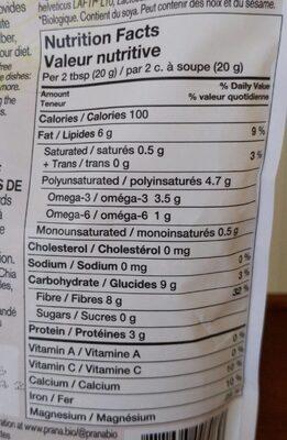 ProactivChia - Nutrition facts - fr