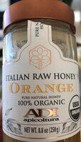 Italian raw honey orange - Product - en