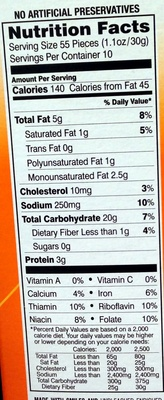 Goldfish Backed Snack Crackers Cheddar - Nutrition facts
