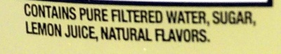 Simply Lemonade - Ingredients - en