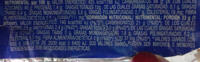 Tatin - Informação nutricional - es