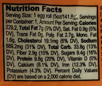 Imperial Garden, Hand Rolled Chicken Egg Roll - Nutrition facts