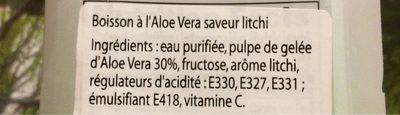 Aloe litchi taste - Informations nutritionnelles